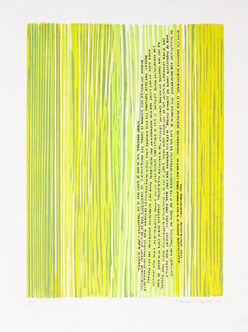 gedicht in kunstwerk van Peter Kalkowsky