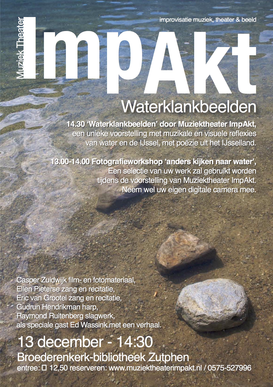 Poster ImpAkt waterbeelden, dec 2009
